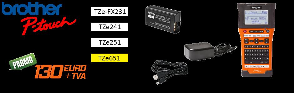 Aparat de etichetat P-Touch E550WSP - BUNDLE