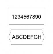 Rola de etichete Blitz C20, Blitz C20i, Blitz C20A - alba